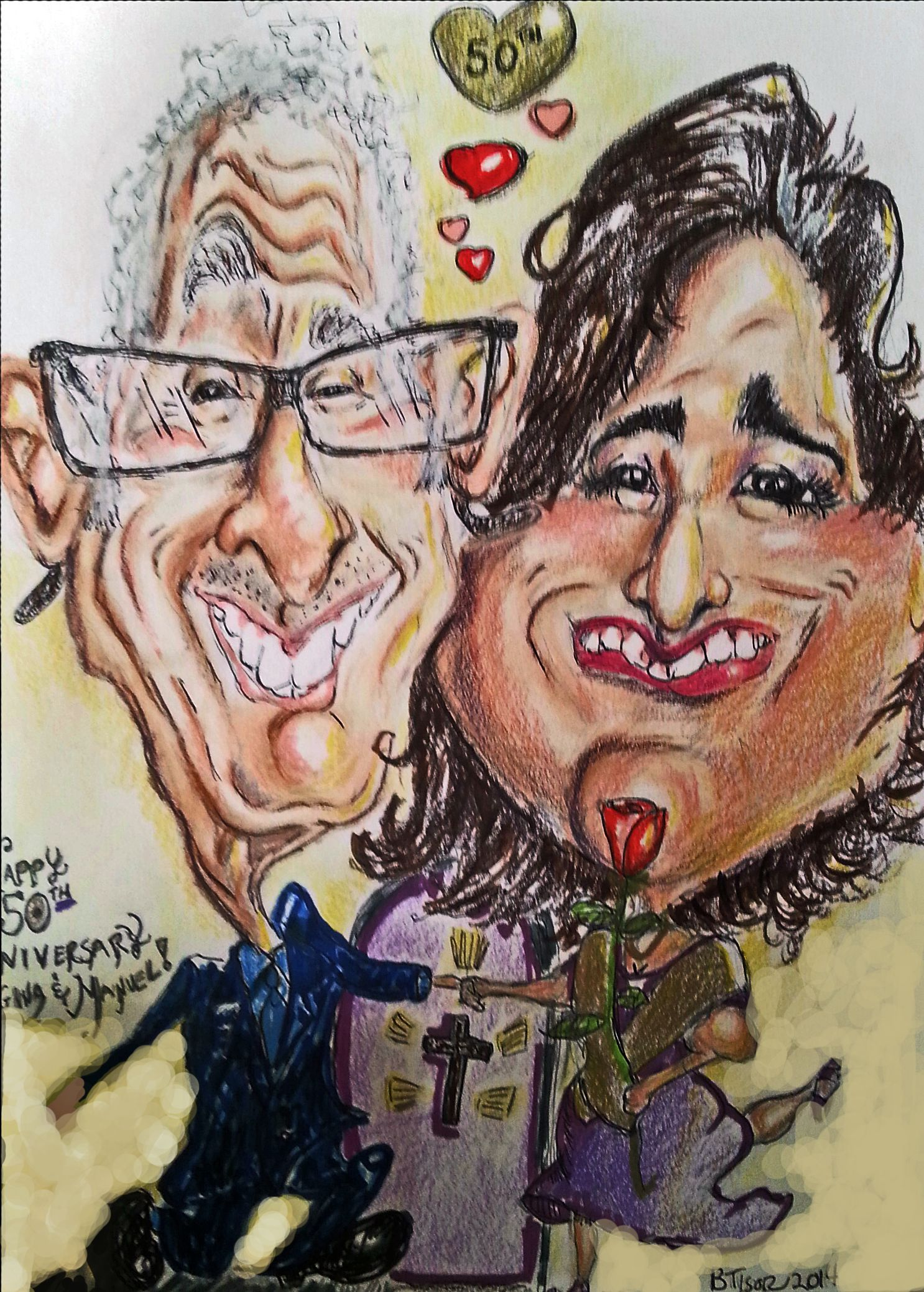 2 Person Caricature